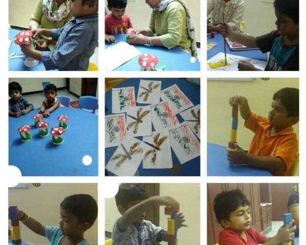 A Group of Photos of a Kids activity Center.