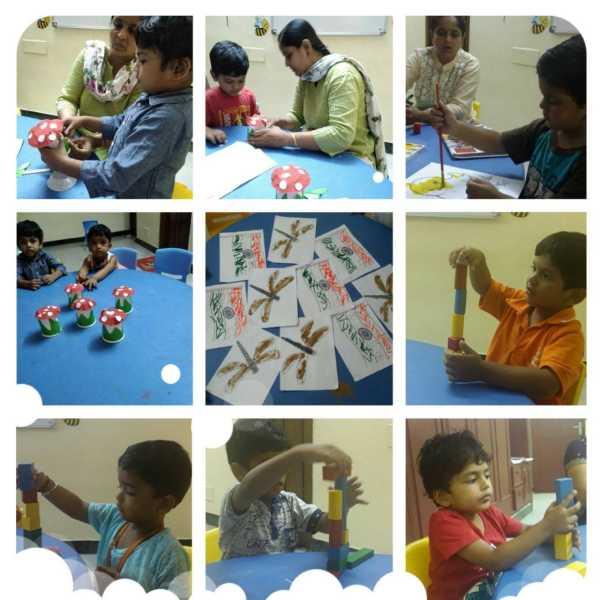 A Group of Photos of a Kids activity Center.