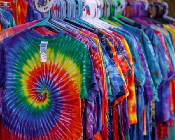 Variety of brightly colored Hand-dyed T-Shirts