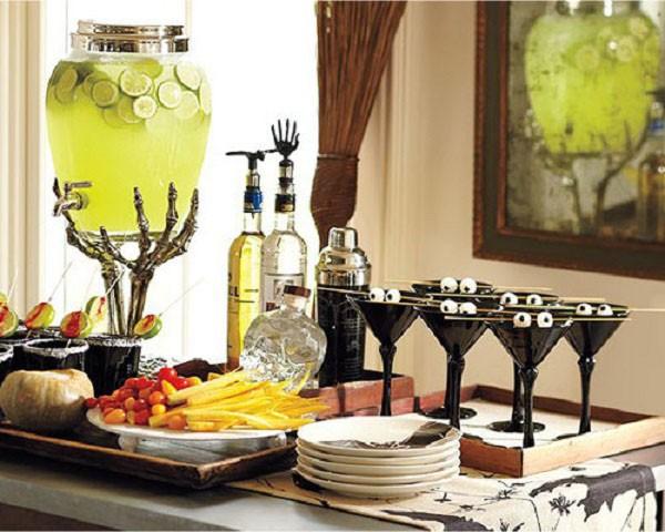 Stunning Setup of Dining For Halloween Celebration.