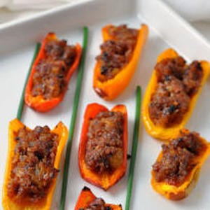 Spicy Stuffed Mini Peppers For Party.